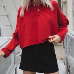 Brandy Melville Red Jones sweatshirt